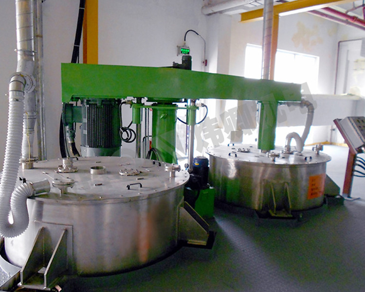 A multi-cylinder hydraulic lift disperser of WQFS